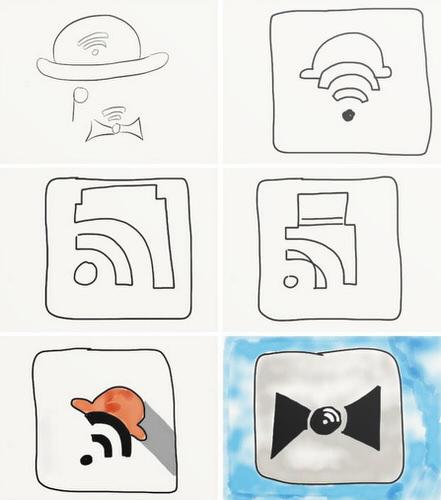 Mr reader ipad rss reader icon design history handwriting