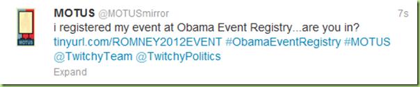 motus #ObamaEventRegistry