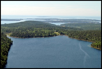 09c - South Bubble - View of Jordan Pond House, Harbors and Cranberry Isles