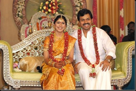 Karthi ranjini marriage stills