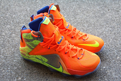 nike lebron 12 gr orange silver yellow 2 11 A Detailed Look at the Orange / Volt Nike LeBron 12 Nerf