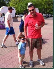 dad and jake at zoo