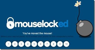 MouseLock 5 secondi per cliccare il numero giusto di sblocco