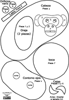 máscara de chimpance