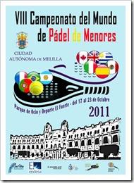 Cartel Campeonato Mundial de Menores de Pádel 2011 Melilla [800x600]