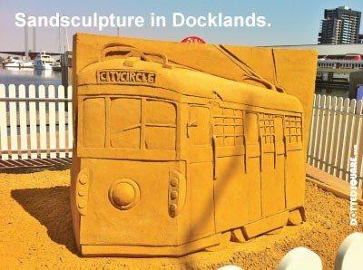 sand sculpture tram