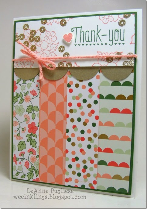 LeAnne Pugliese WeeInklings Hello Darling Thank You Stampin UP