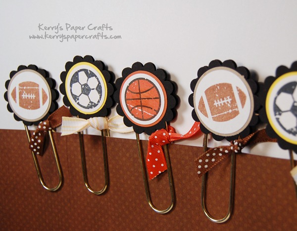Sporty Paper Clip Bookmarks by Kerry