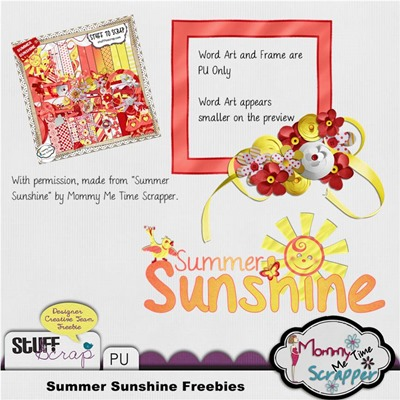Mommy Me Time Scrapper - Summer Sunshine - Freebies