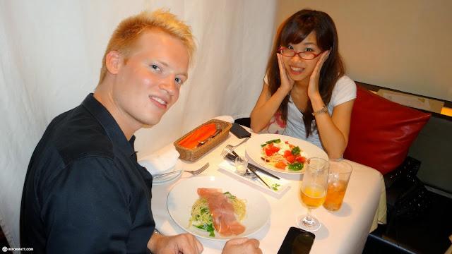 Italian dinner time with my friend Fumie in Shibuya in Shibuya, Tokyo, Japan