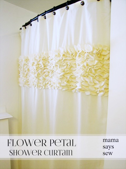 flower petal shower curtain tutorial