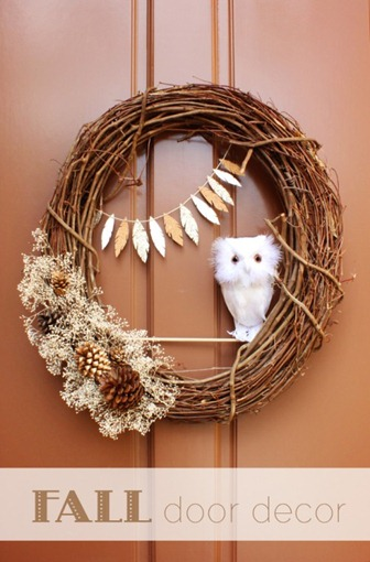 DIY Fall Owl Wreath c