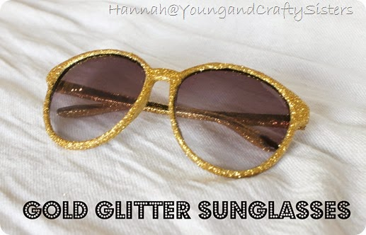 Gold glitter sunglasses