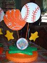 Bob Y Su Cubeta De Dinosaurios Centros De Mesa Beisbol