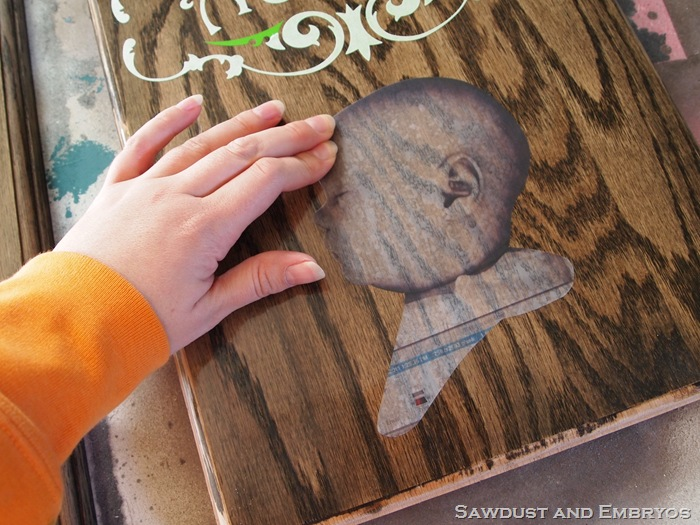 diy children s profile plaques using woodgrain. Black Bedroom Furniture Sets. Home Design Ideas