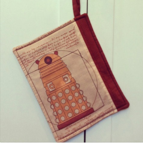 Doctor Who Dalek Kitchen Pot Holder from HuckleberryBaby on Etsy