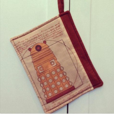 Doctor Who Dalek Kitchen Pot Holder from HuckleberryBaby on Etsy
