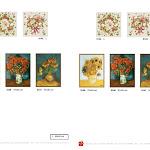 Dekoracje gobelinowe w tradycyjnym stylu. Reprodukcje obrazów Van Gogh.