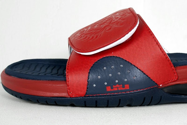 Detailed Look at Nike Air LeBron Slide in Olympic Colorway
