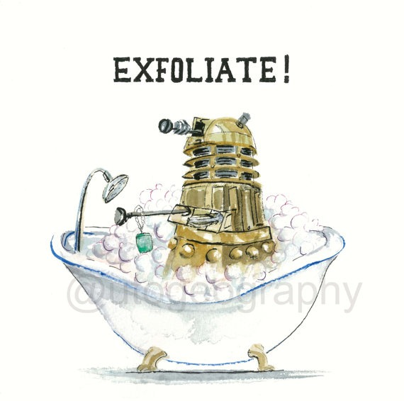 Dalek Exfoliate via Autogeography on Etsy