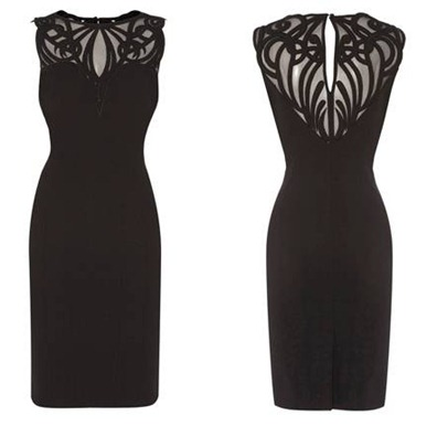 DRAMATIC APPLIQUE DRESS5