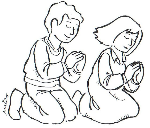 COLOREAR DIBUJOS DE NIÑOS REZANDO – Dibujos para colorear