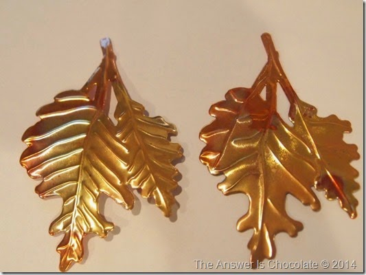 Heated Copper Leaves