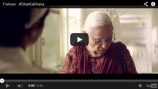 Amazing Ad makes you cry #GharKaKhana #Fortune #Commercial by #PiyushPandey #Homecoockedfood CA Vikram Verma Vikrmn 10 Alone Author