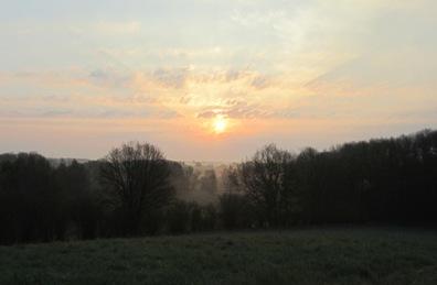 Sonnenaufgang am 6. Mai 2013