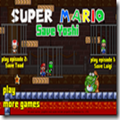 As Mario, play through the tutorial to unlock new levels. Knock blocks for coins, and smash goombas.