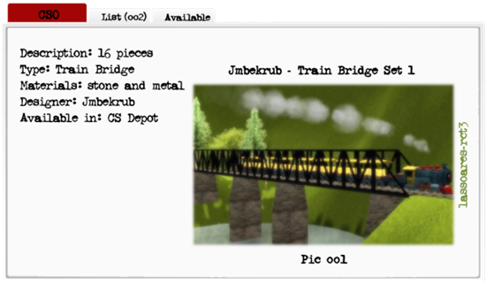 Jmbekrub - Train Bridge Set 1 (Jmbekrub) lassoares-rct3