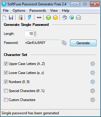 Download Free Password Generator SoftFuse