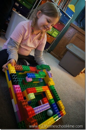 STEM - duplo maze kids activity