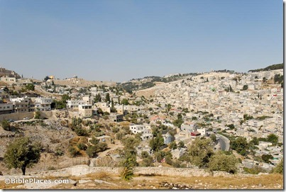 City of David and Mount of Olives from southwest, tb091306406