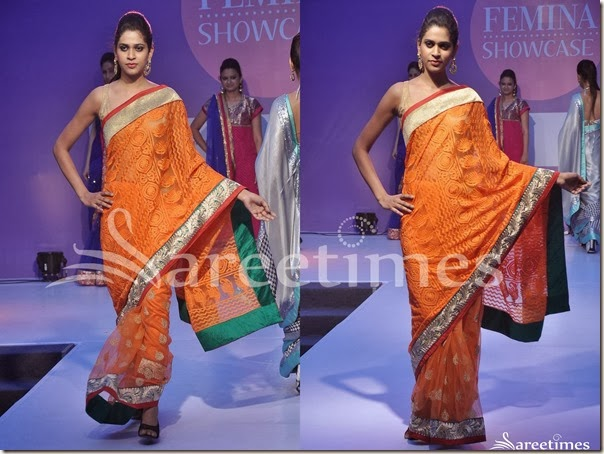 Orange_Embellished_Saree