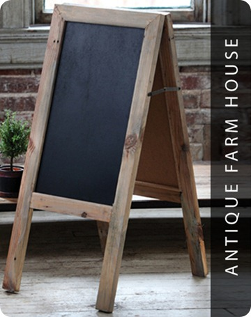 two sided standing chalkboard