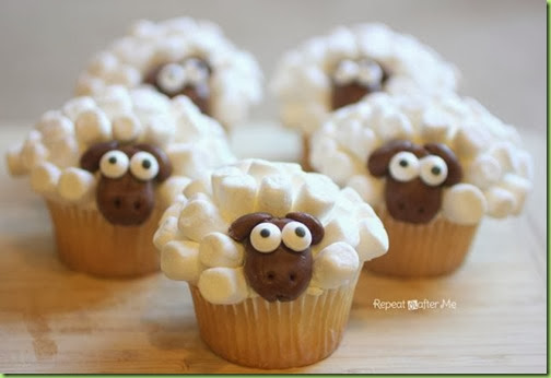 sheeple cupcakes