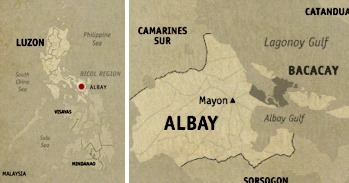 Bacacay Location Map