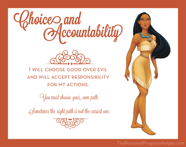 Young Women Value Disney Princess Posters | Choice and Accountability: Pocahontas