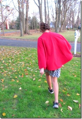 Fleece cape 5
