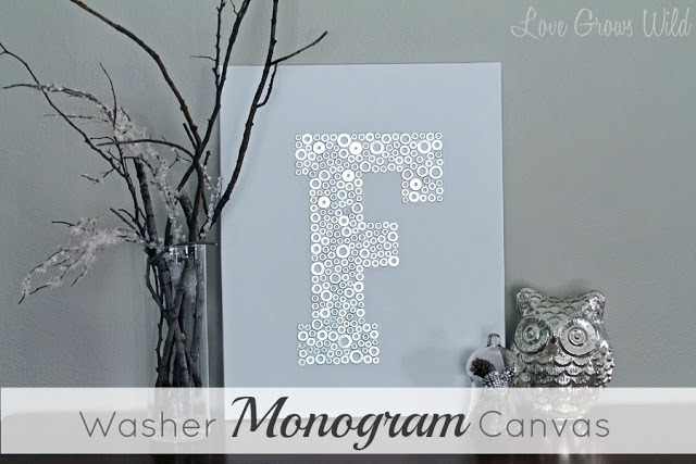 Washer Monogram Canvas with Title