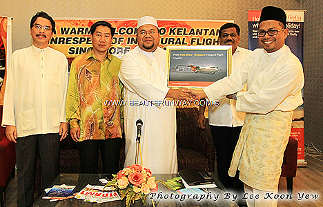 FIREFLY MALAYSIA AIRLINE KOTA BHARU INAUGURAL FLIGHT SINGAPORE CHANGI INTERNATIONAL AIRPORT kelantan tourist cultural office Penang Subang Koh Samui HATYAI Indonesia Malaysia Thailand NEW ROUTE LAUNCH turboprop PLANE BOOK tickets