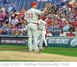 'Cliff Lee & Ryan Howard' photo (c) 2011, Matthew Straubmuller - license: http://creativecommons.org/licenses/by/2.0/