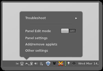 Cinnamon 1.4 - Panel Edit