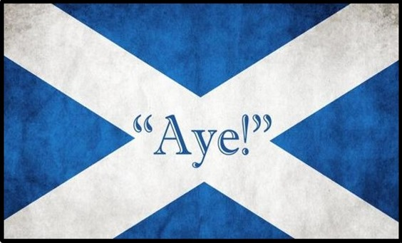 Yes Escòcia Aye Scotland