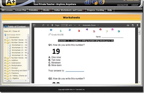a plus tutor printable worksheet