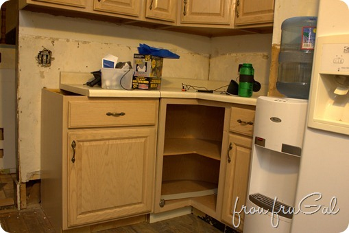 Kitchen Demo - Corner unit