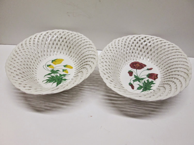 Portuguese Decorative Bowl Pair