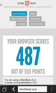 BlackBerry HTML5 Test