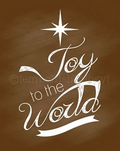 Joy to the World Chalkboard